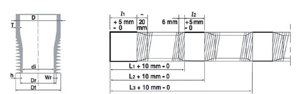 Neotiss MSR Tubes dimensions and profiles